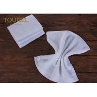 100% Cotton16s Hotel Face Towel White Terry Face Cloth With Embroidered Logo