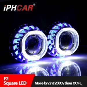 Buy cheap IPHCARDual Led Angel Eye Double Angel Eye Car Spart Led Halo Ring Led light Bulb for Car Universal for Any Car Headlight product