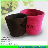 Buy cheap LUDA 2016 new design large basket colored decorative sewing cotton rope laundry baskets from wholesalers