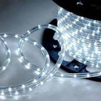 Buy cheap Holiday Rope Lights with Flat and Milky White or Transparent Color Shape, 11 x 22mm Diameter product