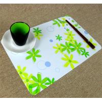 Buy cheap Large Executive Custom Desk Pad Office Desk Mats With Flower Printed from wholesalers