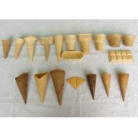 Buy cheap Golden Color Ice Cream Waffle Cone , Chocolate Sugar Cones Customized product