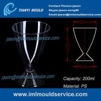 Buy cheap PS 200ml 7oz clear disposable red/white wine glasses /cup mould/plastic martini cup mold from wholesalers