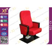 Buy cheap Wooden Armrest Box Structure Conference Hall Chairs With Book Net And Cup Holder product