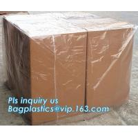 Buy cheap Commercial clear gussted bags for pallet covers, Plastic vinyl cover with square bottom poly pallet cover, Tarpaulin Pal from wholesalers