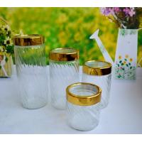 Buy cheap SET OF 4 PCS GLASS CANISTER from wholesalers