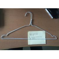 Buy cheap Metal White Wire Hangers Q195 Steel Material For Laundry 16 / 18 Inches from wholesalers