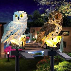 China 450mm Solar Powered Owl Garden Lights on sale