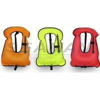 Buy cheap 420D nylon urethane coated water safety adult snorkeling vest life jacket for free diving from wholesalers