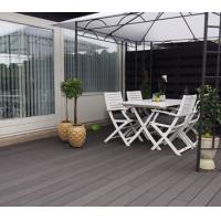 Solid WPC Deck Flooring For Park Decoration , Recycled Decking Material