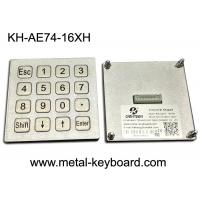 Buy cheap 4x4 Layout Waterproof Metal Keypad, Matrix /USB Port for Kiosk or Fuel/Gas station from wholesalers
