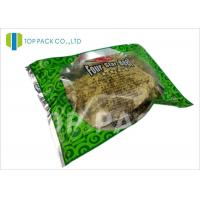 Buy cheap Glossy Green Printed Laminated Pouches 3 Side Seal Aluminm Foil Clear Window from wholesalers