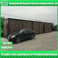 Buy cheap Steel structure Insulated Expandable Container House with Cultural Stone Sandwich Panel from wholesalers