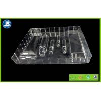 Buy cheap PVC Clear Plastic Cosmetic Trays Embossing Printing , Transparent Cosmetic Trays from wholesalers