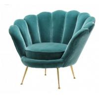 Buy cheap Hote sale elegant flower shape living room chair velvet fabric furniture office chair stainless steel legs chair from wholesalers