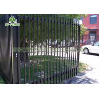 China Decorative Wrought Iron Spear Top Fencing Climb Proof With Powder Sprayed Coating on sale