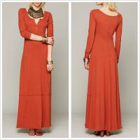 Buy cheap China clothing woman long sleeve latest autumn maxi dress from wholesalers