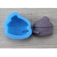 Buy cheap Pink House Shaped Silicone Soap Molds / Cake Decoration Molds With FDA Approval from Wholesalers
