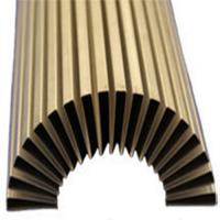 Buy cheap Custom folded fin heat sinks aluminum/brass China manufacturer from wholesalers
