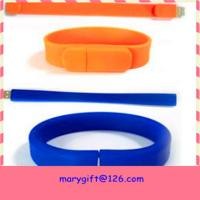Buy cheap best selling usb silicone wristband with flash memory from wholesalers