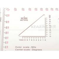 Measures in mils and degrees field kit 12.7cmx12.7cm for map reading KMP-2