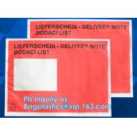 Buy cheap Customize plastic self adhesive packing list bag, envelope cash bag/plastic envelope cash bag used in store & bank, bagp from wholesalers