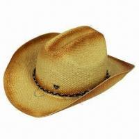 Buy cheap Fashionable Ladies' Cowboy Straw Hat with 100% Paper Composition from wholesalers