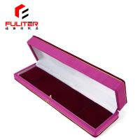 Buy cheap Custom Spring Hinge Long Velvet Gift Box , Leather Fabric Jewelry Box from wholesalers
