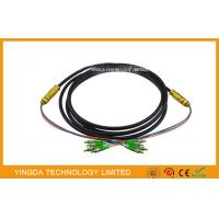 Buy cheap FC / APC 4 Core Optical Fiber Pigtails Patch Cord Cable Waterproof Black , Length Customized from wholesalers