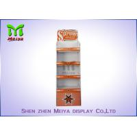 Buy cheap Supermarket Retail Exhibition Paper Corrugated Display Stands , Customized Color from wholesalers