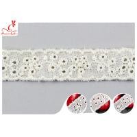 Buy cheap Fashion Embroidered Floral Cotton Eyelet Lace Trim For Nighty Trade Assurance product