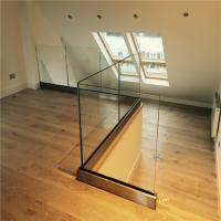 Buy cheap Frameless glass balustrade aluminum U channel railing glass railing indoor from wholesalers