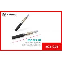 Buy cheap Black Ego CE4 E Cigarette , Ego E Cig Clearomizer 1400 Puffs from wholesalers