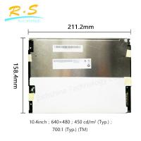 Buy cheap Matte 10.4 inch 640*480 VGA tft lcd panel 80/60/80 , Brightness industrial lcd monitor from wholesalers