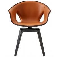 Quality Classic Modern Luxury Fiberglass dining bar chair Upholstered PU Ginger Chair for sale