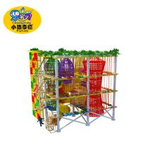 Buy cheap Amusement park equipment children fitness climbing rope course from wholesalers