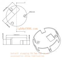 Buy cheap hotsell stamping T0.7mm CRI steel accessories 12um zinc plated from wholesalers