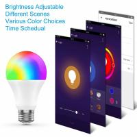 Buy cheap Remote Control RGB / White Wifi LED Bulb 800 Lumen Smart Phone Control from wholesalers