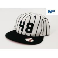 Buy cheap White Letter Embroidery Sports Snapback Personalized Baseball Caps Collapsible Peak Skull from wholesalers