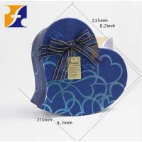 Buy cheap Wholesale Luxury Paper Heart Shaped Flower Packing Hat Gift Box With Ribbon from wholesalers