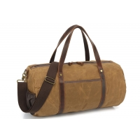 Buy cheap Genuine Leather Waterproof Waxed Canvas Travel Duffel Bag from wholesalers