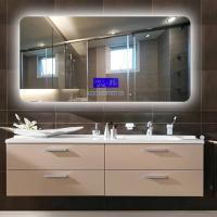 China Wall Mounted LED Bathroom Mirror With Radio Fingerprint - Free on sale