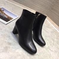 Buy cheap Women black leather boots casual ladies winter shoes genuine leather upper material 2018 winter fashion leather boots from wholesalers