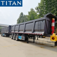 Buy cheap 50/60 ton U-shape Rear Dump Semi-trailer Truck for Sale in Guyana from wholesalers