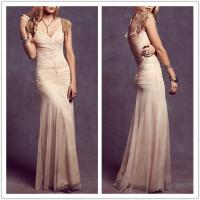 Buy cheap Ladies fahsion nice shirred night gown maxi party dress wedding dress from wholesalers