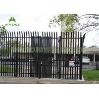 Buy cheap Powder Coating Galvanized Steel Security Fencing W Or D Type For Country Border from wholesalers