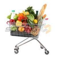 Buy cheap Unfolding Colored Supermarket Shopping Trolley Baskets from wholesalers