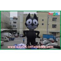 Buy cheap 6mH Oxford Cloth Black Inflatable Cartoon Characters , Inflatable Cat from wholesalers
