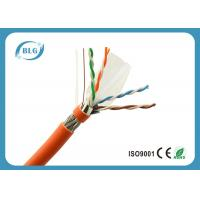 23AWG Solid Full Copper Cat6 Cable Bulk , Network Communication Cat 6 Ethernet Cable