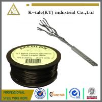Buy cheap hot sale in usa 0.9-2mm PA/PVC/Nylon coated stainless steel wire rope for equipment from wholesalers